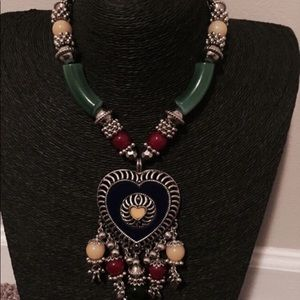Long multicolored Indian necklace
